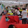 fisioterapeutas tratan a los corredores de la anterior edición de la Transvulcania