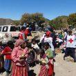 La Cruz Roja mexicana repartiendo alimentos en una comunidad rarámuri