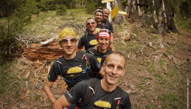 El equipo de carreras por montaña de Vibram 2012 integrado por: Roman Moalic