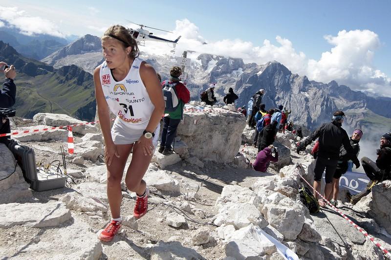 Emelie Forsberg durante la Dolomites Skyrace 2012 Emelie Forsberg en la Transvulcania 2013
