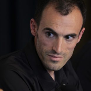 Iker Carrera en la mesa redonda de la Transvulcania 2012