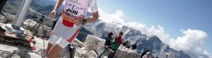 Mireia Miró durante la Dolomites Skyrace 2012