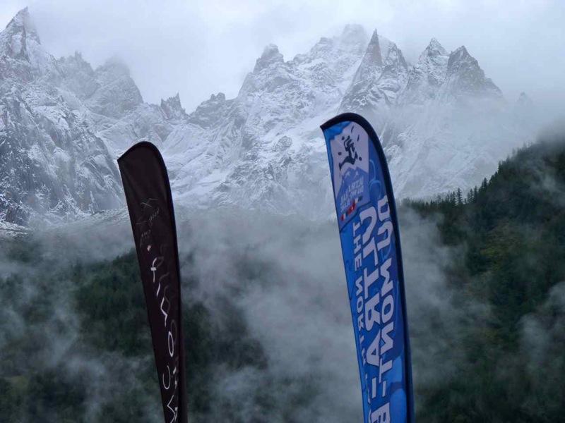 Chamonix el día de la salida de la UTMB 2012