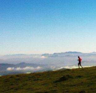 Parte del recorrido de la carrera por montaña Gorbeia Suizen
