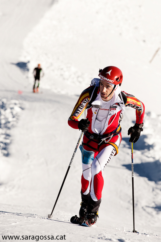 Kilian Jornet en el Campeonato de España individual de esquí de montaña 2012