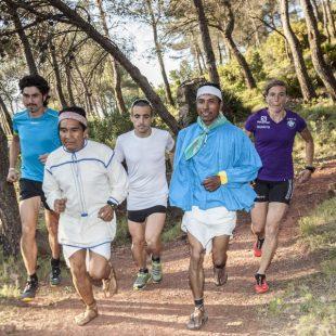 Sesión de entrenamiento previa a la CSP115 con corredores tarahumaras