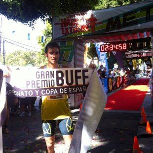 Luis Alberto Hernando como ganador de la Haría Extreme 2013