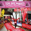 Iker Karrera en la meta del Tor des Geants Iker Karrera en el Tor des Geants