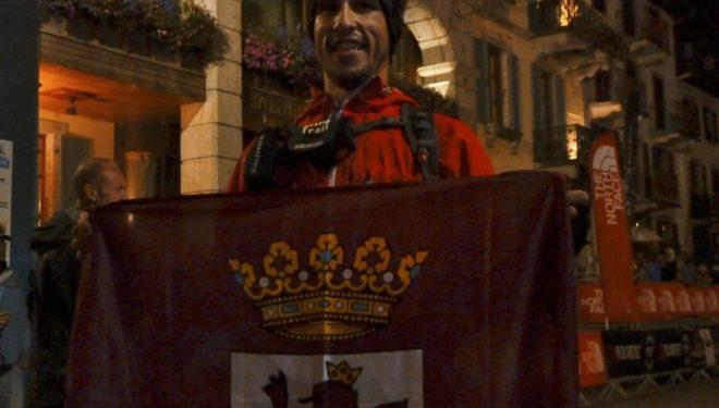 El leonés Pablo Villa en la meta de la TDS en la UTMB 2012