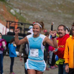 Emelie Forsberg en el Mont Blanc Marathon