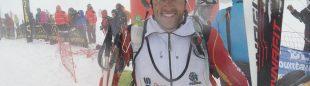 Marc Sola Poma a la llegada de la prueba individual del Campeonato Europa Esquí de Montaña 2014