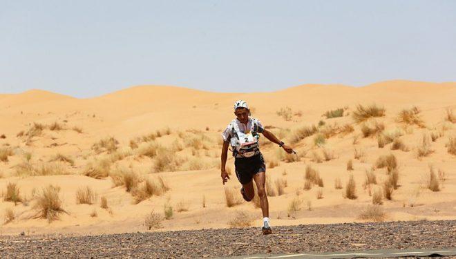 Rachid El Morabity en el Marathon des Sables 2014
