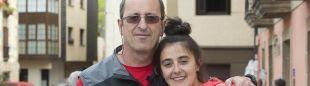 Alberto Aierbe (director técnico y creador de la Zegama Aizkorri) con su sobrina Ainhoa Churruca, directora de la carrera.