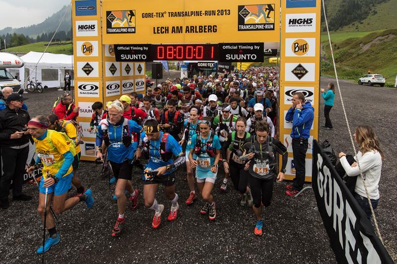 Salida de la Gore-Tex Transalpine Run 2013
