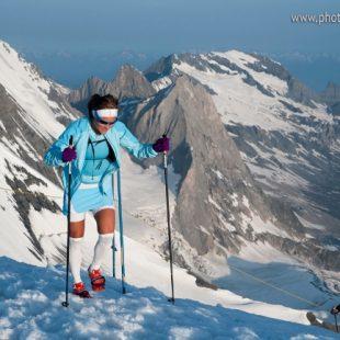 Emelie Forsberg en el Ice Trail Tarentaise 2013