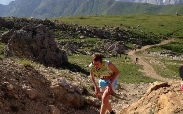 Laura Orgué en la Dolomites Skyrace 2014