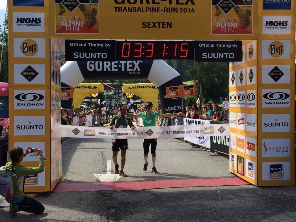 Gerard Morales y Emma Roca en la Transalpine Run 2014