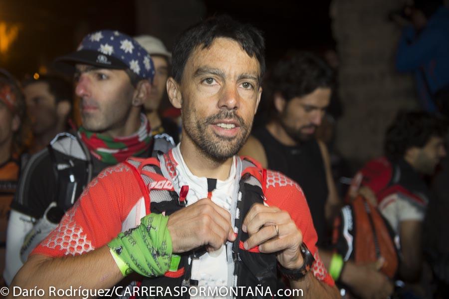 Tofol Castanyer en la salida de la Ultra Cavalls del Vent 2013
