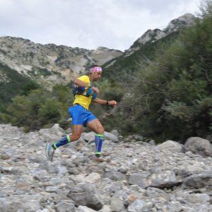 Yeray Durán en el km 71 de la Ultra Pirineu 2014