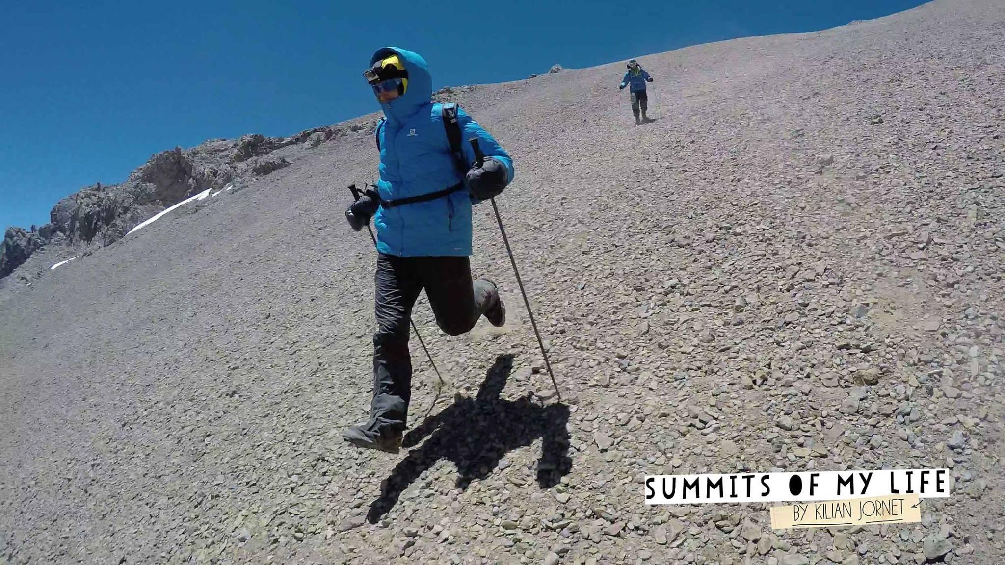 Kilian Jornet en el Aconcagua