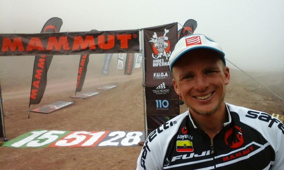 Karl Egloff tras vencer el Ultra Trail Andes Infernal