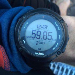 Reloj de Kilian con el record ascenso y descenso Aconcagua en 12h 49m. 23 diciembre 2014