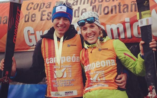Oriol Cardona y Claudia Galicia en el Campeonato de España de Sprint