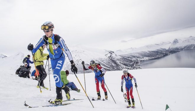Anton Palzer en la Copa del Mundo de Esquí de Montaña 2014