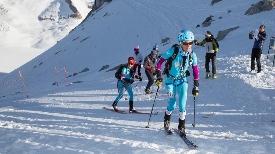 Laetitia Roux y Mireia Miró en la Adamello Ski Raid 2015