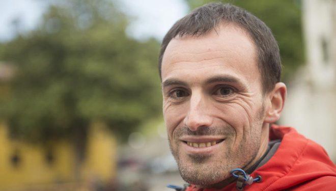 Iker Karrera en la Zegama-Aizkorri 2014 (no participó