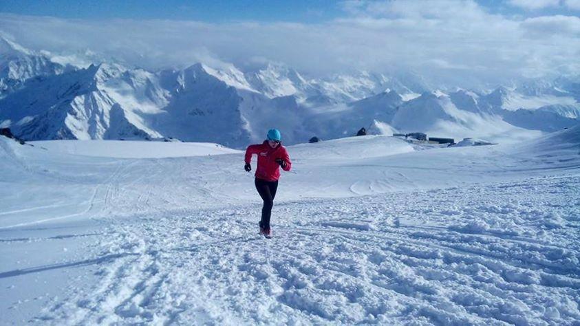 La corredora de montaña rusa Oksana Stefanishina