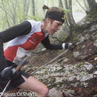 Laura Orgué en el Kilómetro Vertical Zegama Aizkorri 2015 que ganó.