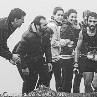 Aritz Egea a su paso por Santo Espíritu (kilómetro 20 aprox.) Zegama Aizkorri 2015. Quedó cuarto.