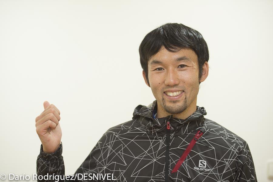 El corredor japonés Mai Matsumoto en la Zegama Aizkorri 2015