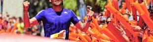 La alegría de Luis Alberto Hernando al ganar Transvulcania 2015