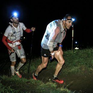 Iker Karrera y François DHaene en el TNF Ultra Trail Mont Blanc 2014