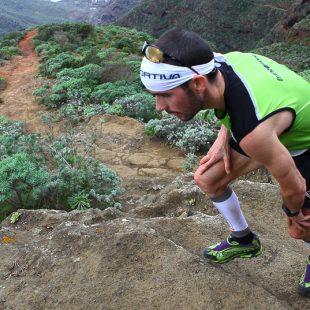 David López Castán en pleno esfuerzo durante la K42 Anaga Marathon.