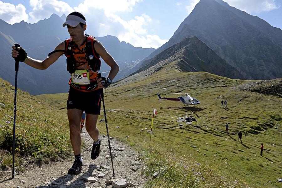 Jordi Bes durante la CCC del Ultra Trail Mont Blanc 2013.
