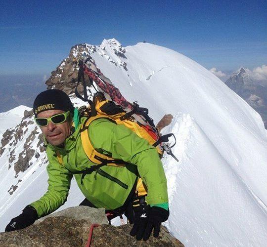 Pablo Criado en el Monte Rosa