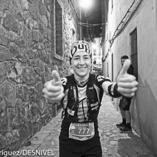 Nuria Picas antes de la salida Ultra Pirineu 2015. Quedó tercera.