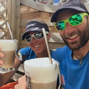 Ander Cangas y Sonia Regueiro tras su descalificación de la Transalpine Run 2015