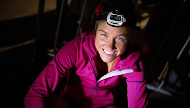 Emelie Forsberg en la Ice-Trail Tarentaise 2015