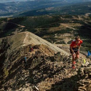 Laura Orgué en el Lone Peak Vertical Kilometer 2015