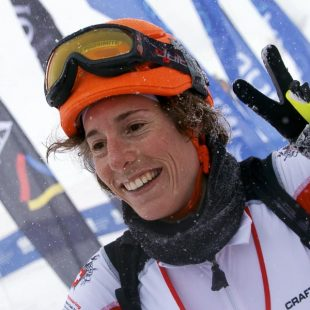 La esquiadora suiza Maude Mathys