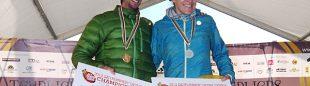 Kilian Jornet y Nuria Picas reciben un cheque de la ISF