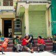 Kilian Jornet y Jordi Tossas en Nepal durante la grabación de Langtang