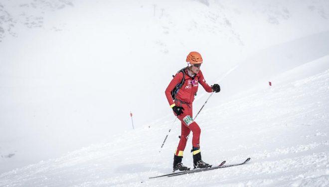 Laura Orgué en la Individual Race Copa Mundo Esquí de Montaña celebrada en Fot Blanca 2016