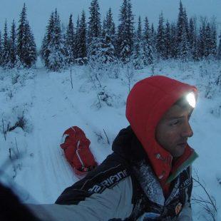 Joel Jaile en la Yukon Artic Ultra