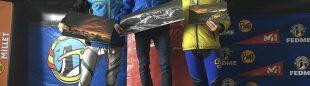 Podio prueba individual celebrada en Candanchú. Última prueba Copa España Esquí de Montaña 2016: Jordi Alís (ganador)