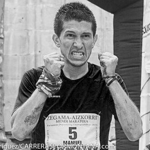 Manuel Merillas llega segundo a meta en Zegama Aizkorri 2015